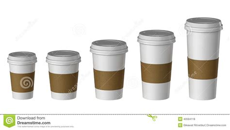 Ananastarte Without Paper Cup blank disposable cup with cover and heat proof paper small medium large stock photo