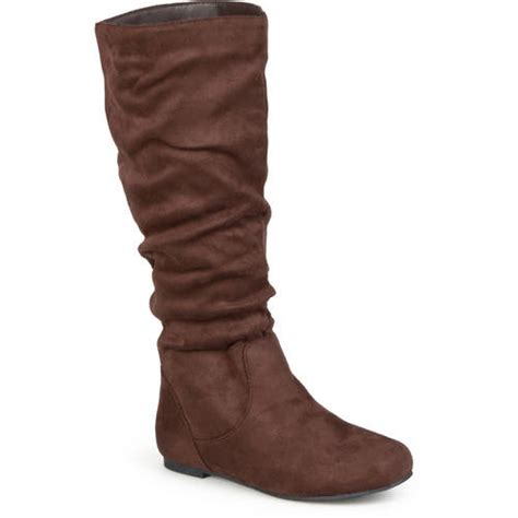 brinley co s slouchy microsuede boots walmart