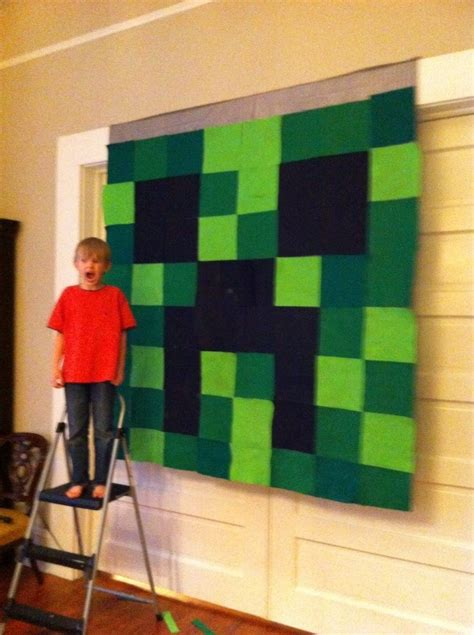minecraft curtains pin minecraft creeper curtain valance handmade by me for