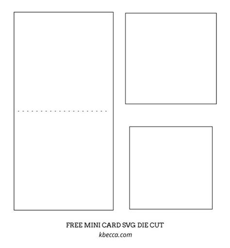 mini card templates 15 best images about free cut files svg silhouette