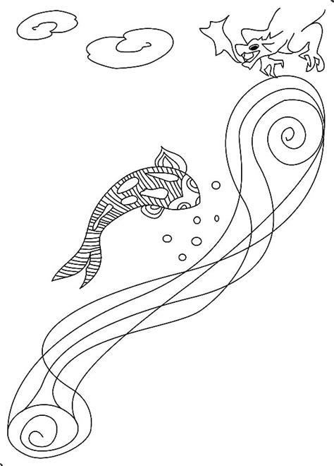 dragon fish coloring page free how to draw koi carp coloring pages