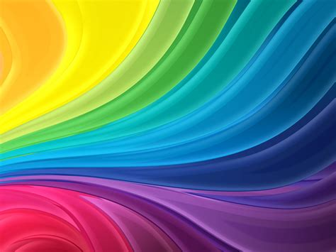 Rainbow Flow Abstract Ppt Backgrounds 1024x768 Resolutions Free Rainbow Powerpoint Template