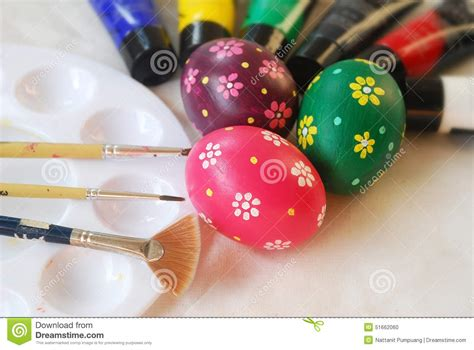 Handmade Easter Eggs - handmade easter eggs stock photo image 51662060