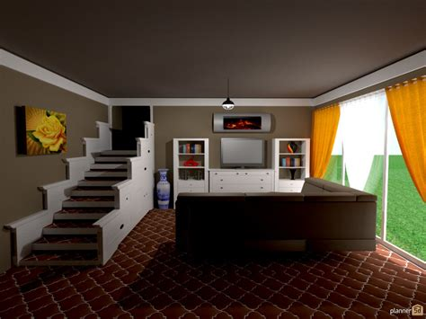 living room with basement stairs daylight basement stair storage house ideas planner 5d