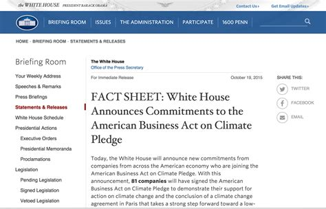 white house press release white house press release mentions envision in commitments on the american business