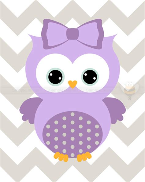 Owl Purple by Purple Owl Chevron Nursery Wall Precise Bees