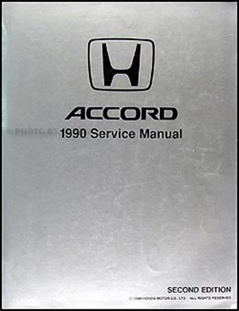 online auto repair manual 1990 honda accord on board diagnostic system 1990 honda accord repair shop manual original