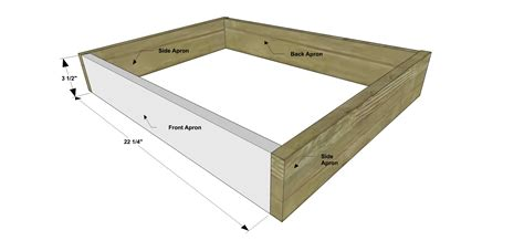 how to build an ottoman frame free diy furniture plans how to build a modern