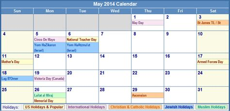 2014 calendar template with holidays may 2014 calendar with holidays as picture