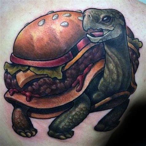 turtle shell tattoo designs 40 cheeseburger designs for food ink ideas