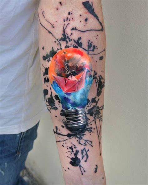ink splatter tattoo 40 colorful ideas for boys and