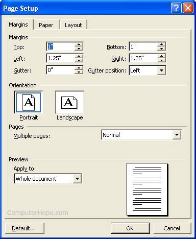 setting margins in word how do i set margins in word writer or another program