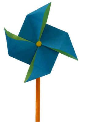 Origami Windmill - bright sparks national mills weekend