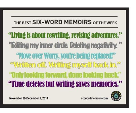 6 word memoirs about life 52 best images about my life in 6 words 6 on pinterest