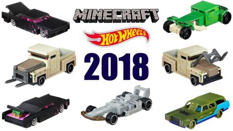 Wheels Hotwheels Minecraft wheels 2018 minecraft series all 6 cars and more