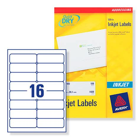avery j8162 inkjet labels 100 per sheet 99 1x34mm ref