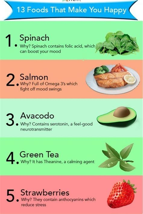 9 Foods To Make You Happy by 13 Foods That Make You Happy Musely