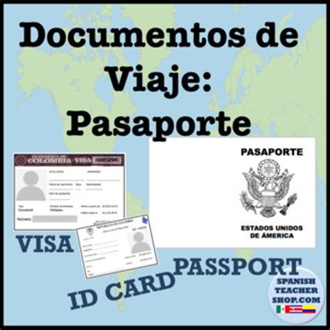 australian id card template passport template and visa by spanishplans tpt