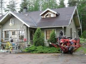 Painting a log exterior for the home pinterest