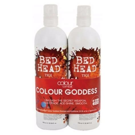 bed head colour goddess tigi bed head colour combat colour goddess duo 2x750 ml