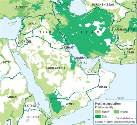 middle east map sunni shia the muslim split in the middle east coffee spoons