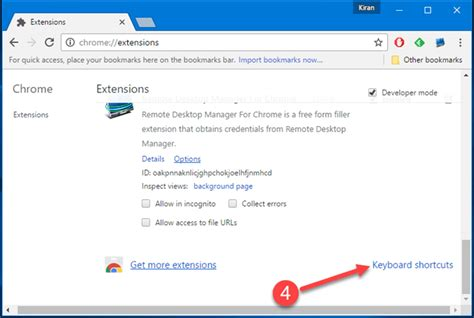 chrome shortcuts how to create keyboard shortcuts for google chrome extensions