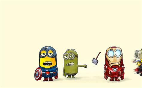 captain america minion wallpaper minion ironman wallpaper