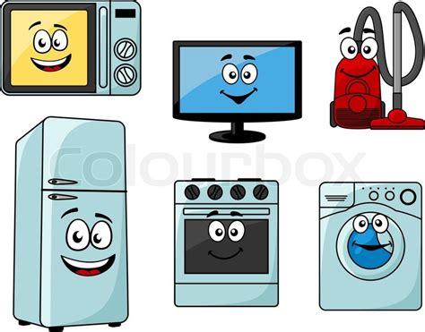 Cartoon Haushaltsgeräte Satz   Vektorgrafik   Colourbox