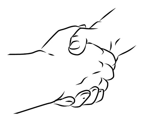 coloring page of shaking hands free coloring pages of shaking hands