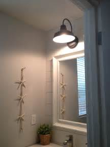 Powder Room Sconces Barn Wall Sconce Lends Farmhouse Look To Powder Room