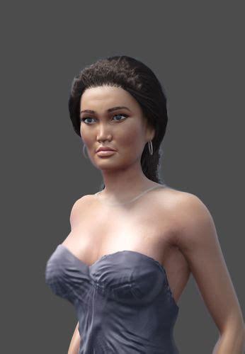 hollywood actress model 3d model hollywood actress tia carrere cgtrader