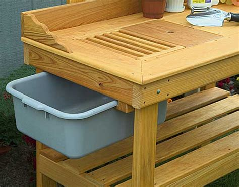 planting bench cypress potting bench