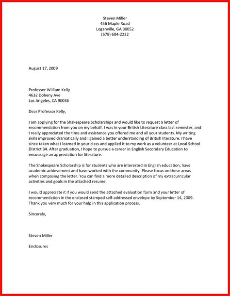 How To Ask For A Letter Of Recommendation ask recommendation letter apa exle