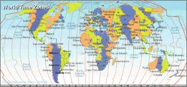 World Clock Map by World Time Zone Map