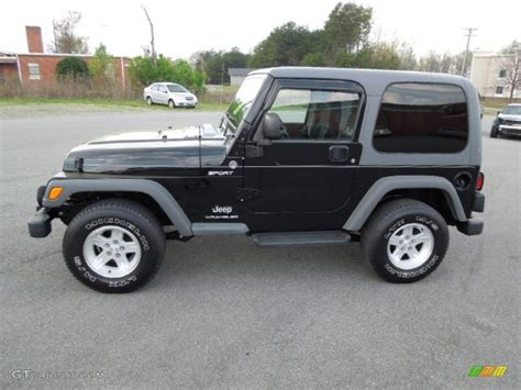 2005 Jeep Wrangler Sport Black 2005 Jeep Wrangler Sport 4x4 Exterior Photo
