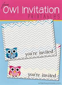 Origami Owl Invitation - while they snooze free owl printable invitations
