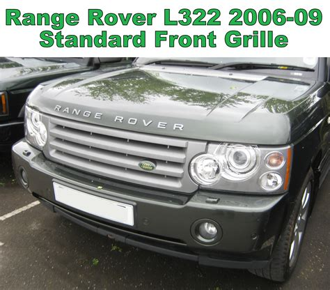 land rover vogue 2006 black silver l405 style front grille range rover l322 06