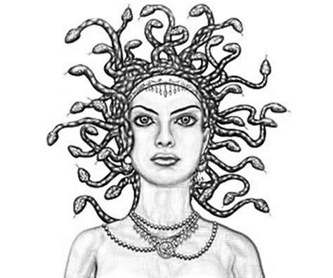 medusa head coloring page coloring pages