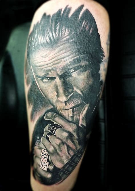 sons of anarchy tattoo jax teller by tamas dikac tribal