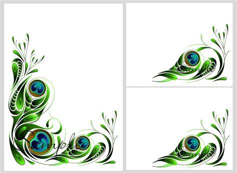 peacock wedding invitations template