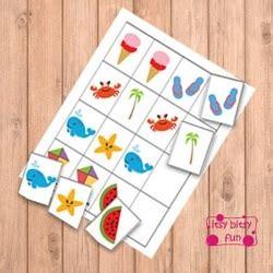 pattern recognition card game summer file folder games itsy bitsy fun