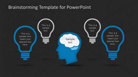 brainstorming template brainstorming ideas record slide design for powerpoint