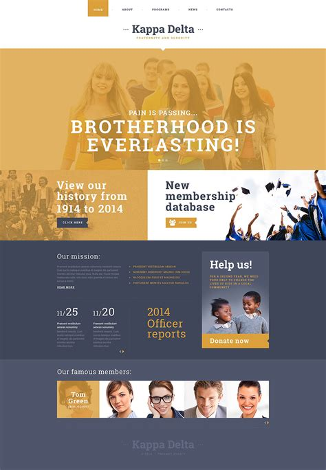 bootstrap templates for school website 22 best university website templates psd free download