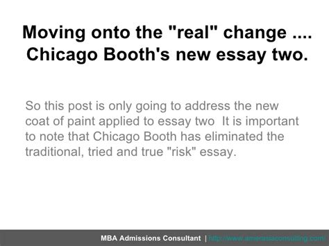 Chicago Booth Mba Application Essays by Breaking Chicago Booth S 2011 2012 Application Essays