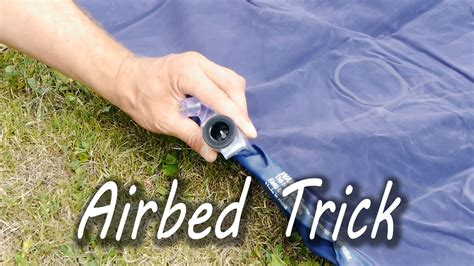 how to inflate an airbed without a