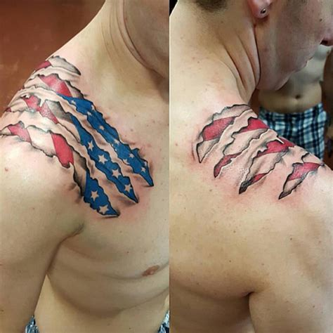 cool american flag tattoos cool american flag tattoos
