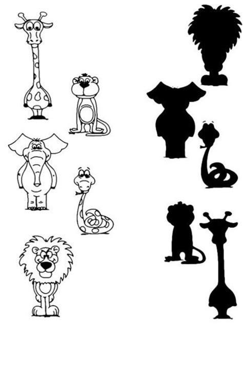 Dopasuj cień do obrazka, połącz obrazki w pary: Zwierzęta