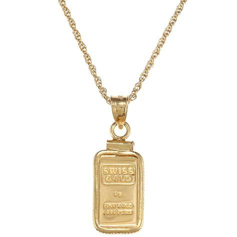 american coin treasures 1 gram gold ingot pendant necklace