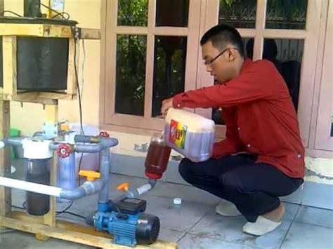 Minyak Goreng Bekas biodisel metode 1 penyaringan minyak goreng bekas