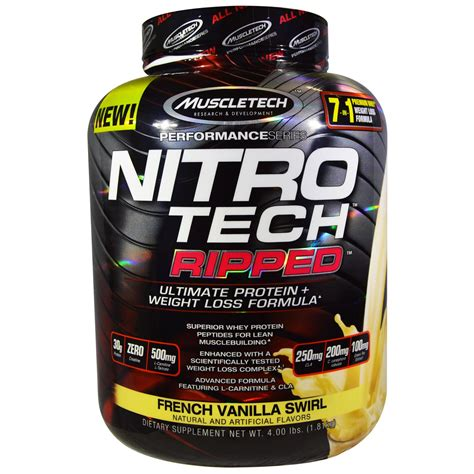 proteinas nitro tech muscletech nitro tech ripped ultimate protein weight